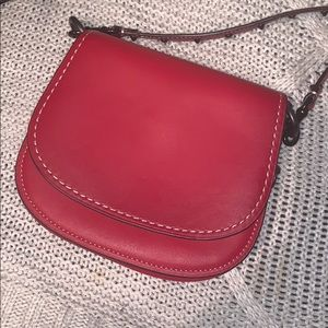 Coach small saddle bag